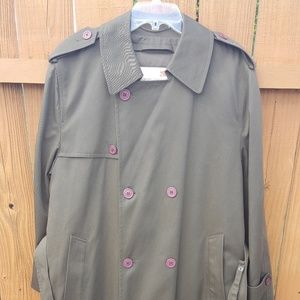 Stanley Blacker Army Green Double Breasted Trench